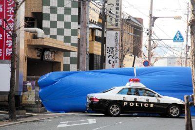 JR尼崎駅前のブロック殺人現場
