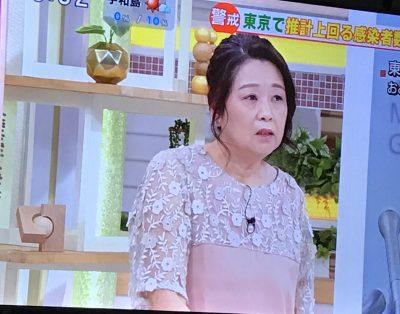 岡田晴恵が着るフェリシモのワンピース